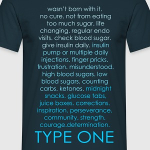Type One Ombre - Blue T-Shirts - Men's T-Shirt