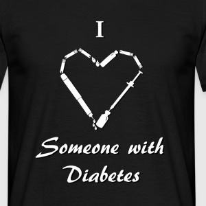 I Love Someone With Diabetes - Needle - White T-Shirts - Men's T-Shirt