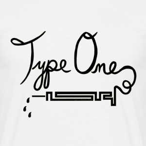 Type One Diabetes - Needle Design - Black T-Shirts - Men's T-Shirt