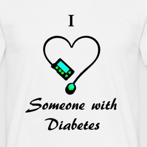 I Love Someone With Diabetes - Pump 1 - B/G T-Shirts - Men's T-Shirt