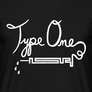 Type One Diabetes - Needle Design - White T-Shirts - Men's T-Shirt