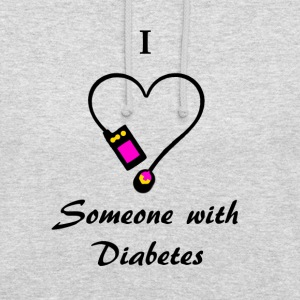 I Love Someone With Diabetes - Pump 2- P/O Hoodies & Sweatshirts - Unisex Hoodie