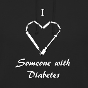 I Love Someone With Diabetes - Needle - White Hoodies & Sweatshirts - Unisex Hoodie
