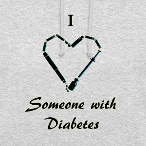 I Love Someone With Diabetes - Needle - Black Hoodies & Sweatshirts - Unisex Hoodie
