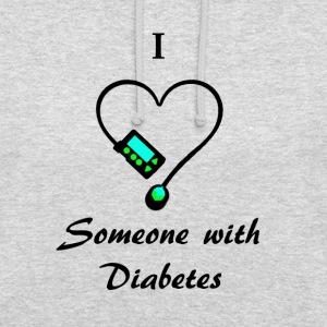 I Love Someone With Diabetes - Pump 1 - B/G Hoodies & Sweatshirts - Unisex Hoodie