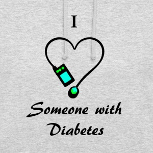 I Love Someone With Diabetes - Pump 2 - B/G Hoodies & Sweatshirts - Unisex Hoodie
