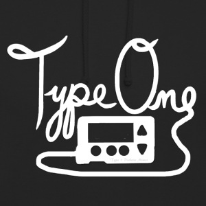 Type One Diabetes - Insulin Pump 1 - White Hoodies & Sweatshirts - Unisex Hoodie