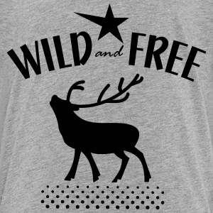 wild and free T-shirts - Premium-T-shirt barn