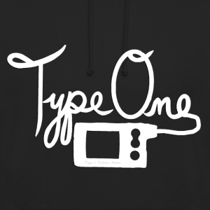 Type One Diabetes - Insulin Pump 2 - White Hoodies & Sweatshirts - Unisex Hoodie