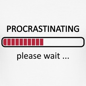 Procrastinating Please Wait T-Shirts - Men's Slim Fit T-Shirt
