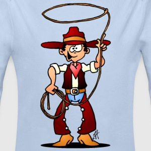 Cowboy with a lasso Baby Bodysuits - Longlseeve Baby Bodysuit