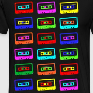 Colourful Cassette Tapes T-Shirts - Men's Premium T-Shirt