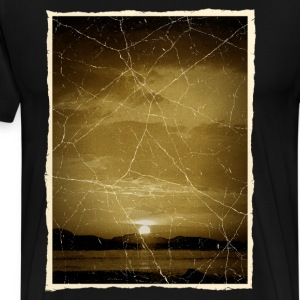 Retro Sunset T-shirts - Mannen Premium T-shirt