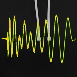 Boom 909 Drum Wave Hoodies & Sweatshirts - Contrast Colour Hoodie