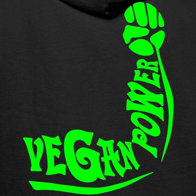 Vegan Power Neon / Flexdruck (kapuze)