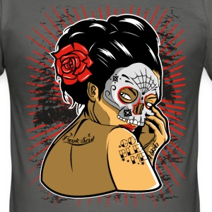 Skull Geisha T-Shirts - Männer Slim Fit T-Shirt