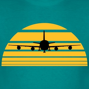 Landing plane sun sunrise Island Vacations T-Shirts - Men's T-Shirt