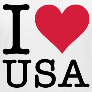 I love the USA! T-Shirts - Women's V-Neck T-Shirt
