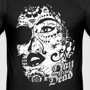 Sugar Lady - Day of the Dead T-Shirts - Männer Slim Fit T-Shirt