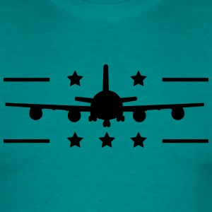 conception de logo aviateur avion à l'atterrissage Tee shirts - T-shirt Homme