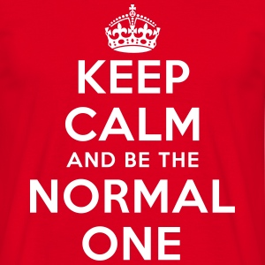 Keep calm and be the normal one - T Shirt - Männer T-Shirt