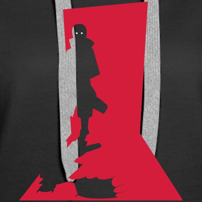 Monster in the Door Dame Premium hættetrøje