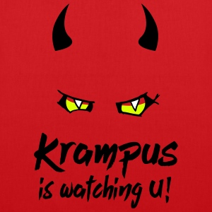 Krampus is watching U with evil eyes and horns Bags & Backpacks - Tote Bag
