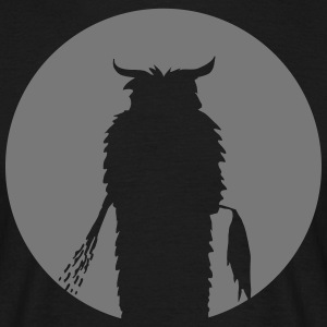Moon with Krampus Silhouette T-Shirts - Men's T-Shirt