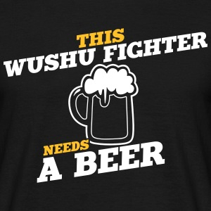 this wushu fighter needs a beer - Men's T-Shirt