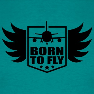 born to fly logo wing aircraft pilot crest T-Shirts - Men's T-Shirt