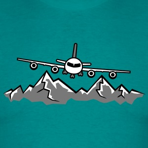 Mountains Alps snow winter ski holiday vacation la T-Shirts - Men's T-Shirt