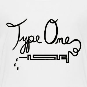 Type One Diabetes - Needle Design - Black Shirts - Kids' Premium T-Shirt