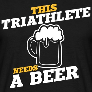 this triathlete needs a beer - Men's T-Shirt
