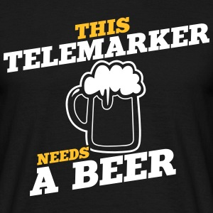 this telemarker needs a beer - Men's T-Shirt