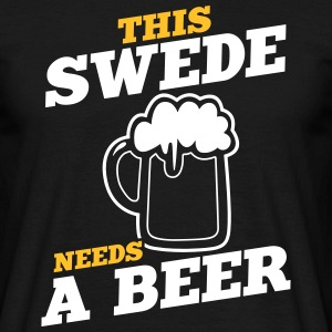 this swede needs a beer - Men's T-Shirt