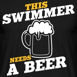 this swimmer needs a beer - Men's T-Shirt