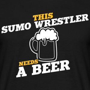 this sumo wrestler needs a beer - Men's T-Shirt