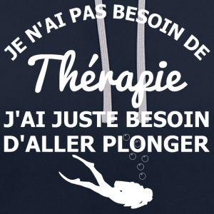 Thérapie de plongeur Sweat-shirts - Sweat-shirt contraste
