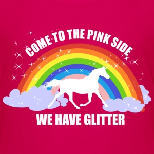 *Come to the pink side - we have glitter* Magliette - Maglietta Premium per bambini
