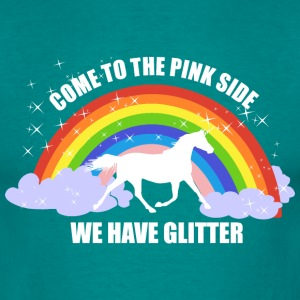 Einhorn *Come to the pink side - we have glitter* T-Shirts - Männer T-Shirt