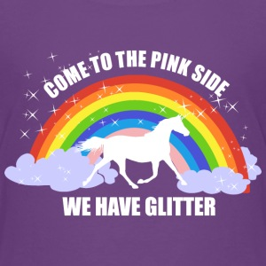 *Come to the pink side - we have glitter* Shirts - Kids' Premium T-Shirt