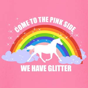 Einhorn *Come to the pink side - we have glitter* Baby Langarmshirts - Baby Langarmshirt