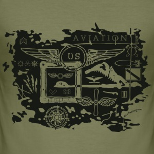 aviation us T-Shirts - Men's Slim Fit T-Shirt