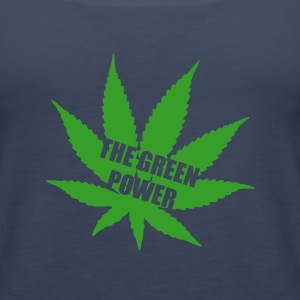 The green Power - Cannabis Toppar - Premiumtanktopp dam