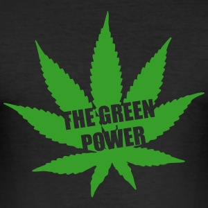 The green Power - Cannabis T-Shirts - Men's Slim Fit T-Shirt