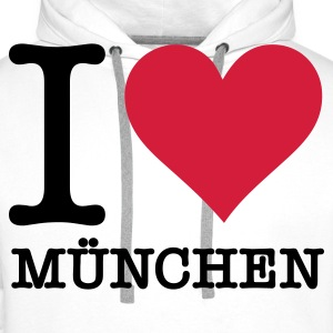 I love Munich Sweat-shirts - Sweat-shirt à capuche Premium pour hommes
