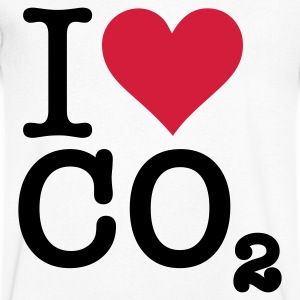 I Love CO2 T-skjorter - T-skjorte med V-utsnitt for menn