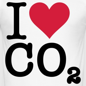 Jag älskar CO2 T-shirts - Slim Fit T-shirt herr
