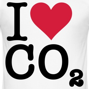 I Love CO2 T-skjorter - Slim Fit T-skjorte for menn