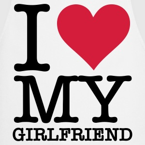 I Love My Girlfriend Kookschorten - Keukenschort